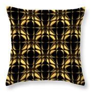 Gold Metallic 8 Throw Pillow