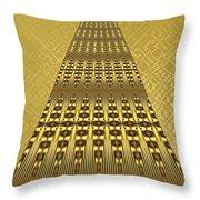 Gold Metallic 9 Throw Pillow