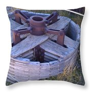Gold Mine Pulley Throw Pillow