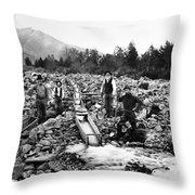 Gold Mining Claim C. 1890 Throw Pillow