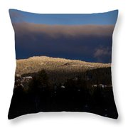 Gold Mountain Throw Pillow