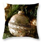 Gold Ornament Throw Pillow