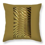 Gold Ridges Throw Pillow