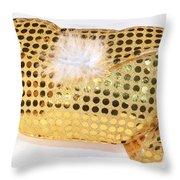 Gold Sequin Purse Throw Pillow