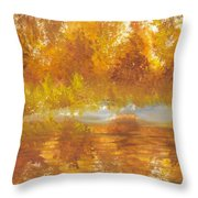 Gold Serenity  Throw Pillow