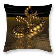 Gold Serpentine  Throw Pillow