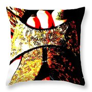 Gold Shoe Throw Pillow