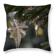 Gold Star Christmas Tree Ornament 4 Of 4 Throw Pillow