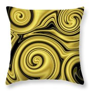 Gold Swirl Throw Pillow