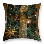 Gold Tones Tree Throw Pillow