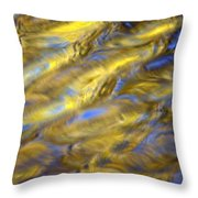 Gold Waters Throw Pillow