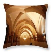 Golden Aches Throw Pillow