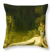 Golden Age Throw Pillow