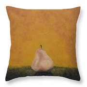 Golden And Pear Shaped Throw Pillow