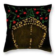 Golden Apple Ship Throw Pillow