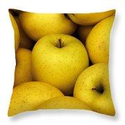 Golden Apples Throw Pillow