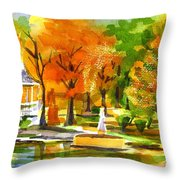 Golden Autumn Day 2 Throw Pillow