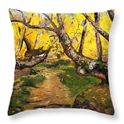 Golden Autumn - Drenova Throw Pillow