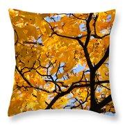 Golden Autumn - Featured 3 Throw Pillow
