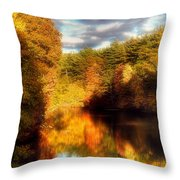 Golden Autumn Throw Pillow by Joann Vitali