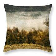 Golden Autumn Throw Pillow