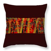 Golden Bamboo Throw Pillow