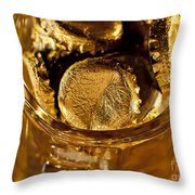 Golden Beer  Mug  Throw Pillow