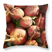 Golden Beets Throw Pillow