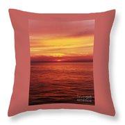 Golden Bermuda Throw Pillow