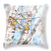 Golden Birch Throw Pillow