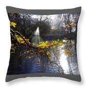 Golden Branch Throw Pillow