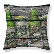Golden Brau Throw Pillow
