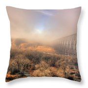 Golden Bridge Throw Pillow