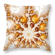 Golden Brown And White Luxe Abstract Art Throw Pillow