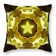 Golden Buddha Star Throw Pillow