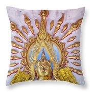 Golden Buddha Statue Throw Pillow