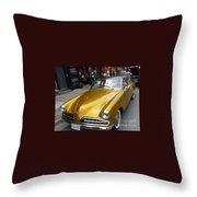 Golden Car Throw Pillow