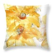 Golden Clematis 1 Throw Pillow
