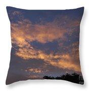 Golden Cloud Sunset Throw Pillow