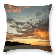 Golden Clouds At Grand Anse Throw Pillow