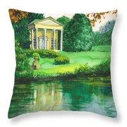 Golden Cottage Throw Pillow