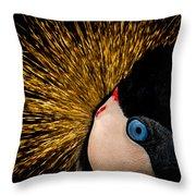 Golden Crown Throw Pillow