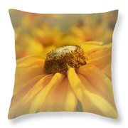 Golden Crown - Rudbeckia Flower Throw Pillow