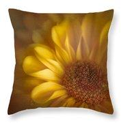 Golden Dahlia Throw Pillow