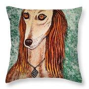 Golden Dog Throw Pillow