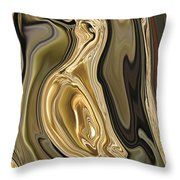 Golden Dove Throw Pillow