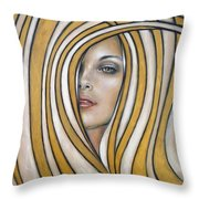 Golden Dream 060809 Throw Pillow by Selena Boron