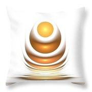 Golden Egg Throw Pillow