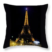 Golden Eiffel Tower  Throw Pillow