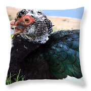 Golden Eyed Throw Pillow